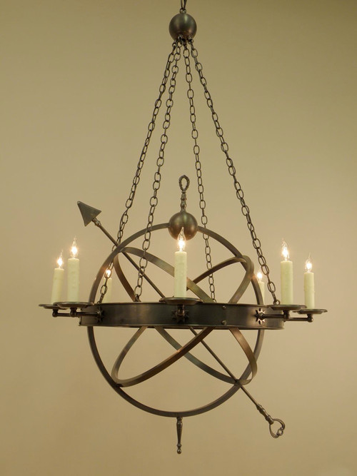 The armillary sphere chandelier authentic designs inc the armillary sphere chandelier image 1 aloadofball Choice Image