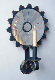 Sunflower Mirrored Sconce - Large