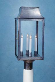 Federalist Era Mansard Post Mounted Lantern - Large