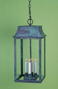 Federalist Mansard Hanging Lantern Large