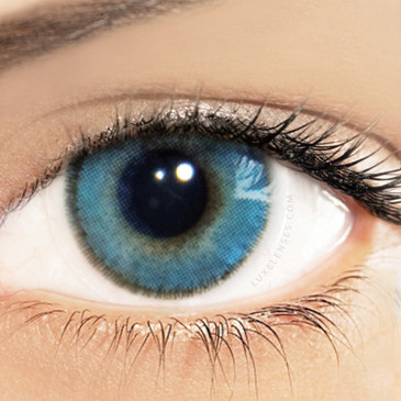 Solotica Natural Azul Blue - 1 Box Two Yearly Lenses