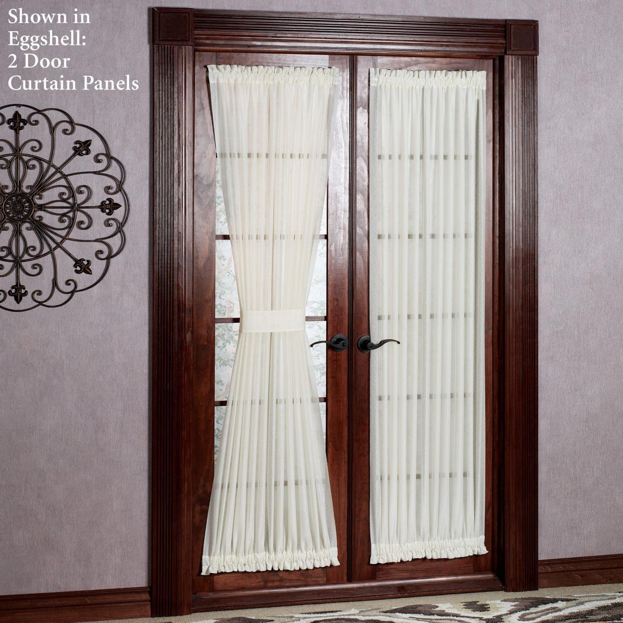 Reverie Sheer Door Panel - & Reverie Sheer Door Panel by HC International - Paul\u0027s Home Fashions