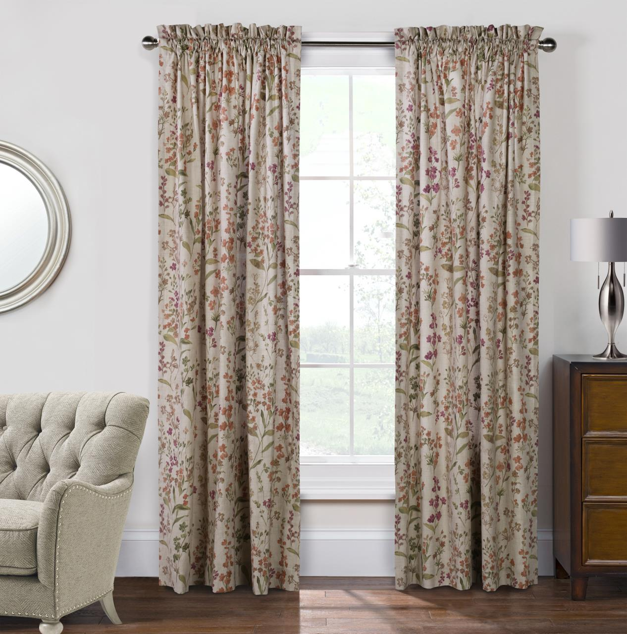 Rockport Floral Curtains   695565134408
