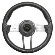 "Aviator 4 Steering Wheel, Carbon Fiber/Brushed Aluminum, 13"" Diameter"