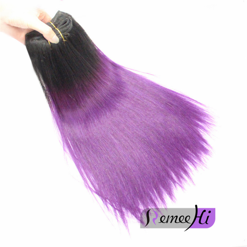 Remeehi Silk Straight Brazilion Remy Hair Weft 1bpurple Human Hair