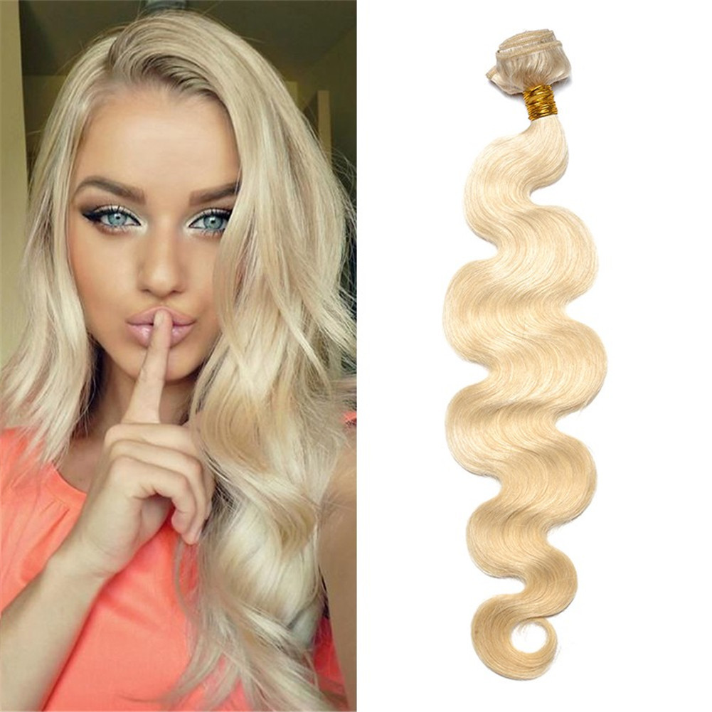 Remeehi Weave 613 Honey Blonde Human Hair Blonde Bundles Hair Weft