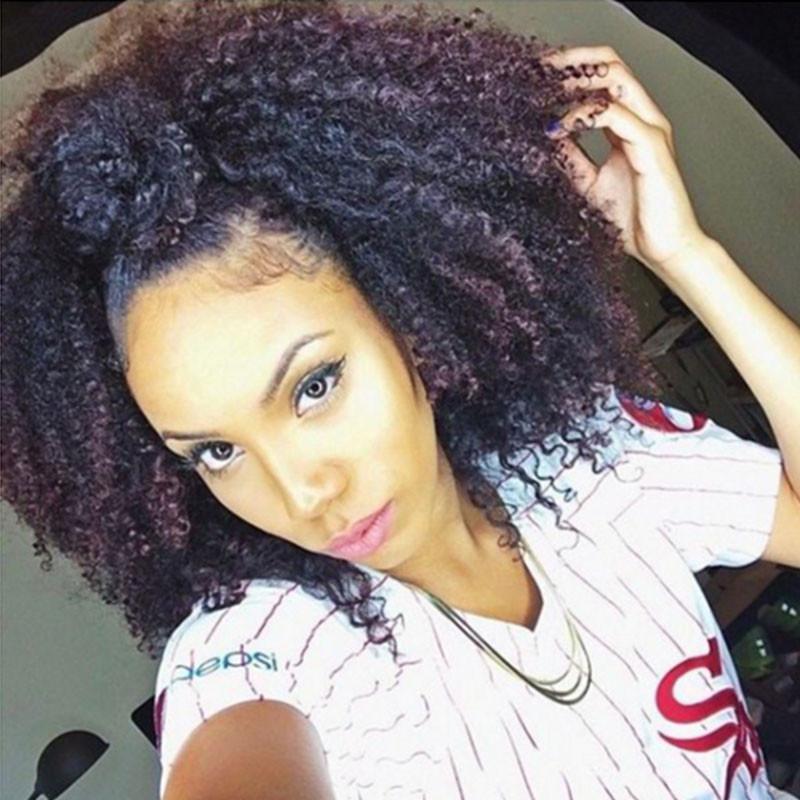 Remeehi Kinky Curly Human Hair Clip In 10pcs 120g Human Hair