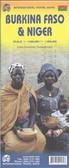 Burkina Faso and Niger Travel Map