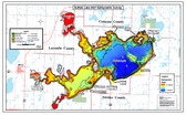 Buffalo Lake Map | Canada map | GoTrekkers Map Store