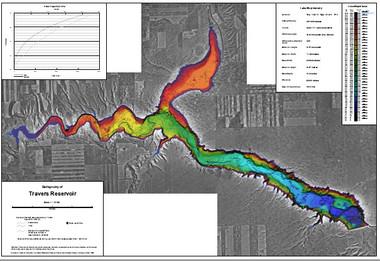 Travers Reservoir Lake Map