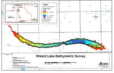 Wizard Lake Map   Canada map   GoTrekkers Map Store