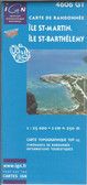 St Martin St Barthelemy Map | TravelMap | GoTrekkers Map Store
