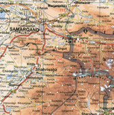 Afghanistan Pakistan Tajikistan Political Travel Map