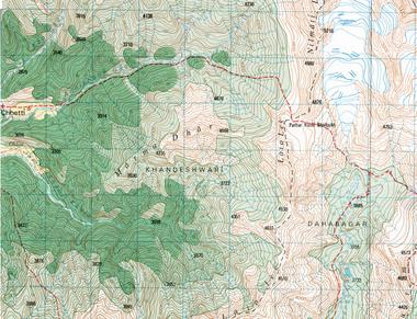 Topographic Maps Nepal Nepal Maps GoTrekkerscom