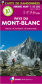 Mont Blanc Hiking Travel Map