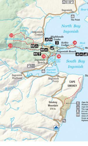 Cape Breton Highlands Park 1:125,000 produced by Nova Scotia government
