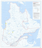 "Canada government Indian & Inuit Communities Quebec Province Map 36"" x 41"" from the 1980's"
