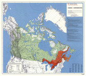 """Canada government Confederation 1867 Map 36"""" x 31"""" from the 1980's"""