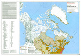 "Canada government Native peoples 1740 Map 45"" x 31"" from the 1980's"