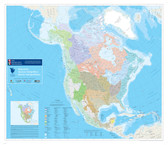 """Map of North American Watersheds 2006 size 44"""" x 38"""""""