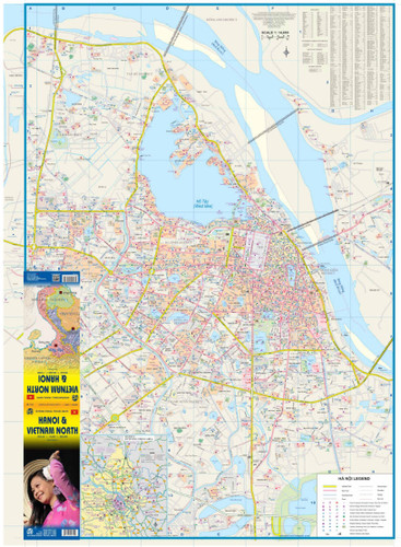 9781553410324Hanoi & Northern Vietnam Travel Reference map1:14K/925K