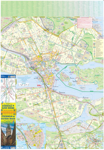 9781771297035	Stockholm & Southern Sweden Travel Reference Map (WP)	1:7,400/1:900,000