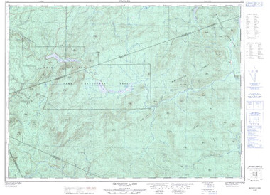 New Brunswick Topographic Map