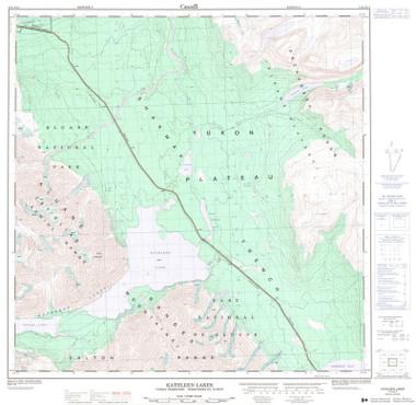 Topographic Maps Yukon YT Topo Maps GoTrekkerscom