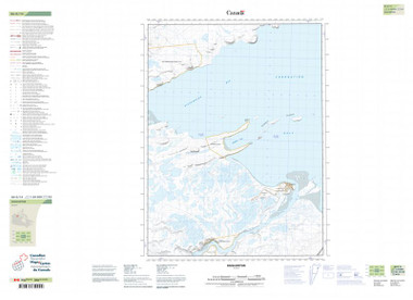 Nunavut Topographic Relief Map