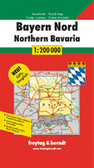 Bavaria Northern Middle Travel Map