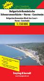 Bulgarian Romanian Black Sea Coast Travel Map
