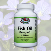 Fish Oil Omega - 3 * 1,000 mg (Molecularly Distilled for Purity)  Softgels 100 ct.