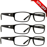 Professional Reading Glasses 3 Pack Black