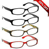 Brookside Reading Glasses 4 Pack 2 Black Tortoise Red
