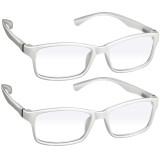 Webster Computer Reading Glasses 2 Pack White