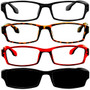 4 Pack Readers Black Tortoise Red Sun