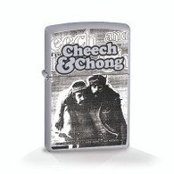 "Cheech & Chong ""Party"" - Chrome - Official Zippo® Lighter"