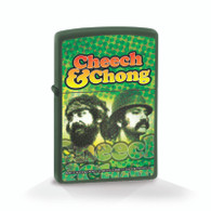 "Cheech & Chong ""Reflection"" - Green Matte Official Zippo® Lighter"