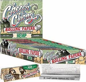 """Cheech and Chong Rolling Papers - Hemp 1 1/4"""" size"""