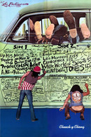"Cheech & Chong ""The Pigs"" Graffiti Poster"