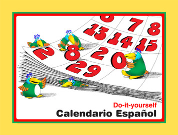 Calendario Espanol e-Book