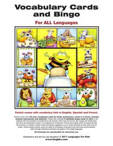 Vocabulary Cards and Bingo - Cover