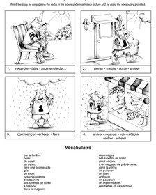 Picture Storyboards in French - Sample 1