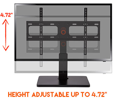 with almost 5 inches or height adjustment, you can raise or lower your TV to fit components or soundbars underneath