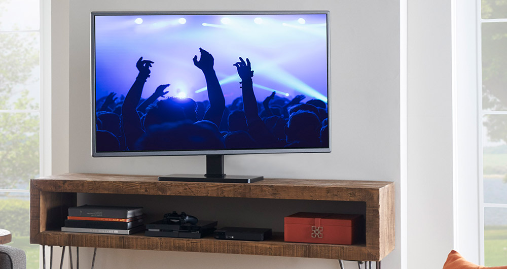 Universal Swiveling Tv Stand For Tvs Up To 60 Echogear