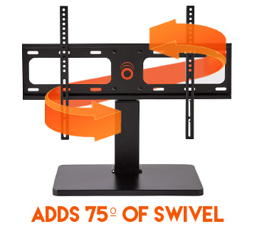 give your TV the swivel it deserves, up to 75º to increase viewing angles to your tv