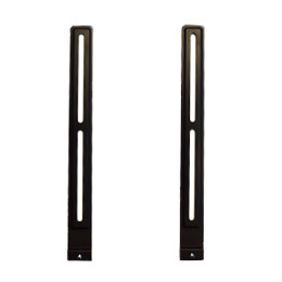 vertical brackets attach to the VESA pattern of your TV