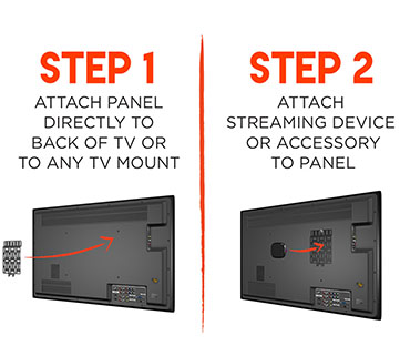 install is a breeze, just connect the device mount to your tv, then put your device on the mount