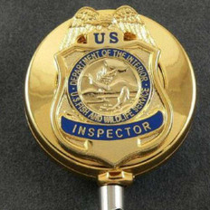 US FWS Fish and Wildlife Inspector Retractable ID holder