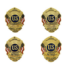 LEOSA Concealed Carry Mini Badge Lapel Pin